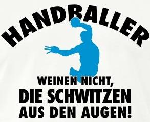 Handball schwitzen